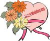 Wedding Heart and Flowers clipart