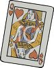 Queen of Hearts Card clipart