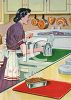 Retro Mother in Her Modern Kitchen clipart