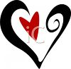 Stylized Heart Graphic clipart