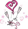 Champagne and Hearts clipart