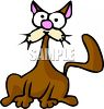 Goofy Looking Cartoon Cat clipart