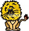 Cartoon of a Lion with a Huge Mane clipart