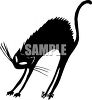 Black Cat With It's Back Arched clipart