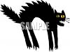 Scared Cat with an Arched Back clipart