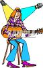 Hippie Folk Singer Performing clipart