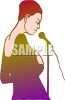 African American Woman Singing clipart