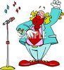 Fat Clown Singing clipart