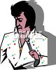 Cartoon of an Elvis Singer clipart