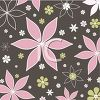 Pink and Brown Floral Background clipart