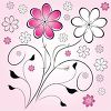 Pink and Black Floral Background clipart