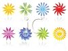 Glossy Flower Collection clipart