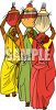 Indian Women Carrying Pots on Their Heads clipart