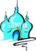 Cartoon of an Indian Structure-Taj Mahal clipart