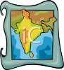 Map of India clipart