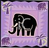 African Elephant Graphic clipart