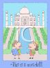 Cartoon of Tourists at the Taj Mahal clipart