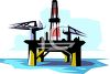 Drilling Platform on an Offshore Oil Well clipart