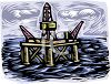 Oil Well in the Ocean clipart