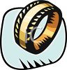 Thick Gold Wedding Band clipart