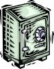 Money Safe with a Combination Lock clipart