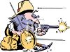 Prospector Defending His Gold Mine clipart