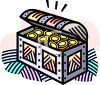 Chest Full of Coins clipart