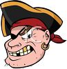 Mean Pirate with a Gold Tooth clipart
