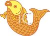 Golden Carp-Koi Fish clipart