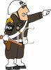 Angry Military Policeman Pointing clipart