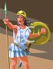 Greek Female Warrior Athena clipart