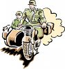 German Soldiers in a Motorcade clipart