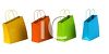 Colored Shopping Bags clipart