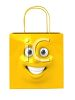 3D pping Bag with a  Smiling Face clipart