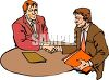 Businessmen Shaking Hands clipart