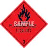 Warning Sign for Flammable Liquid clipart