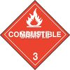 Warning Sign for Combustible clipart