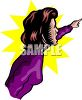 Scared Woman Pointing clipart