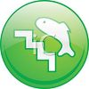 Fish Ladder Icon clipart