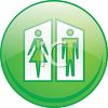 Unisex Bathrooms Icon clipart