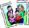 Torn Photograph Depicting of a Family Split by Divorce clipart