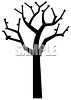 Silhouette of a Spring Tree with Buds on the Branches clipart