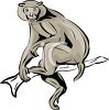 Monkey Sitting on a Branch clipart