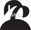 Black and White Palm Tree Icon clipart