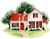 Small Home with French Paned Windows clipart
