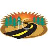 Road Leading Into a Sunset clipart