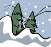 Pine Trees in the Snow clipart