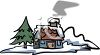 Little Cabin in the Snow clipart