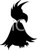 Animal Silhouette of a Funky Bird clipart
