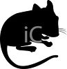 Animal Silhouette of a Pet Hamster clipart